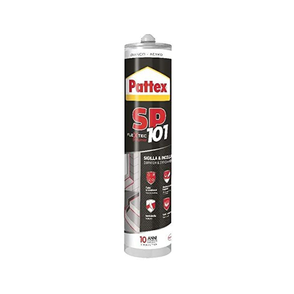 Sigillante neutro super forte sp101 bianco pattex 280 ml.