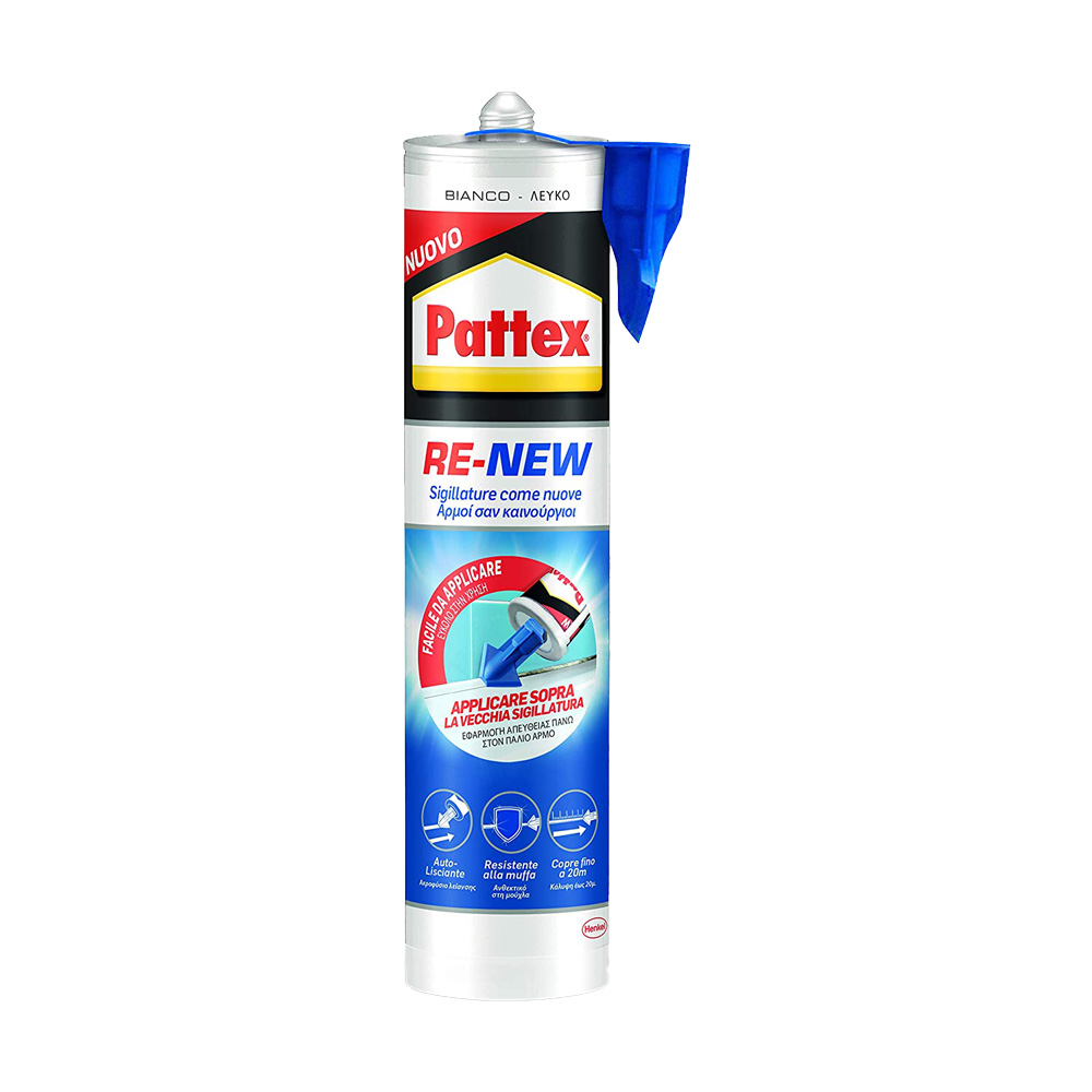 Sigillante x fughe bagno sano re-new bianco pattex 280 ml.
