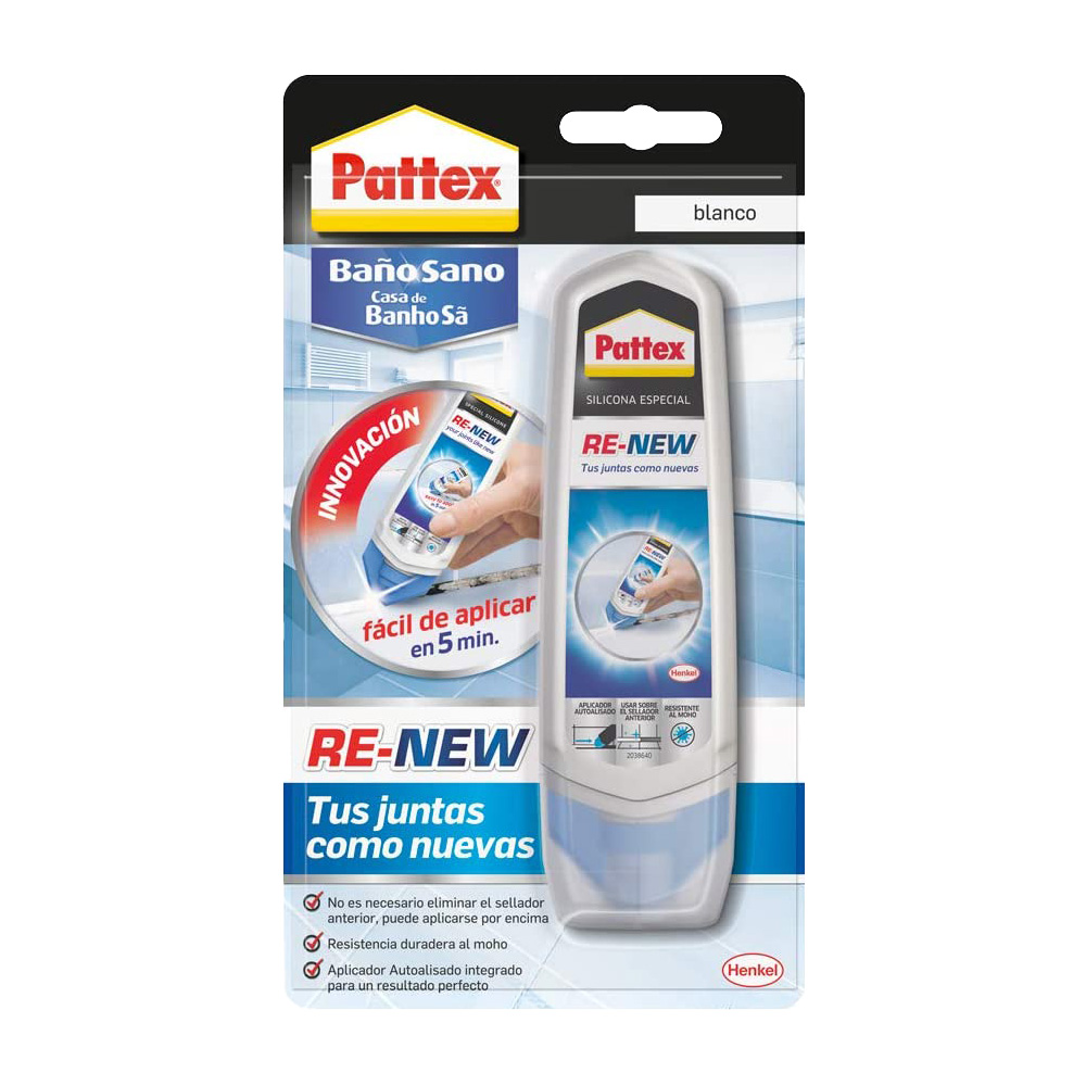 Sigillante x fughe bagno sano re-new bianco pattex 100 ml.
