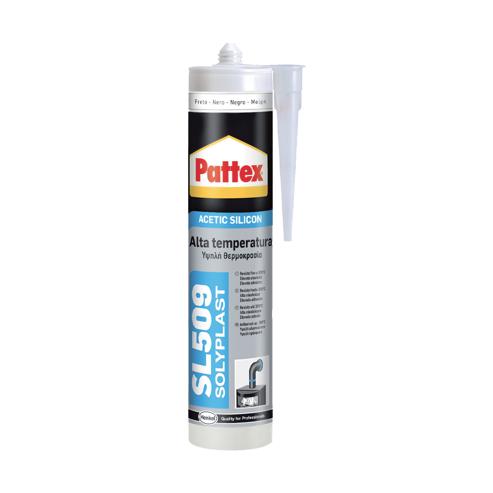 Sigillante sl509 resistente alle alte temperature nero pattex 300 ml.