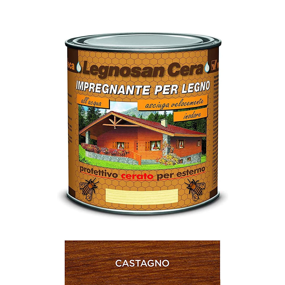 Impregnante all'Acqua Legnosan Cera Castagno VELECA 750 ml