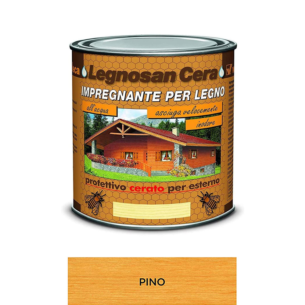 Impregnante all'acqua legnosan cera pino veleca 750 ml.