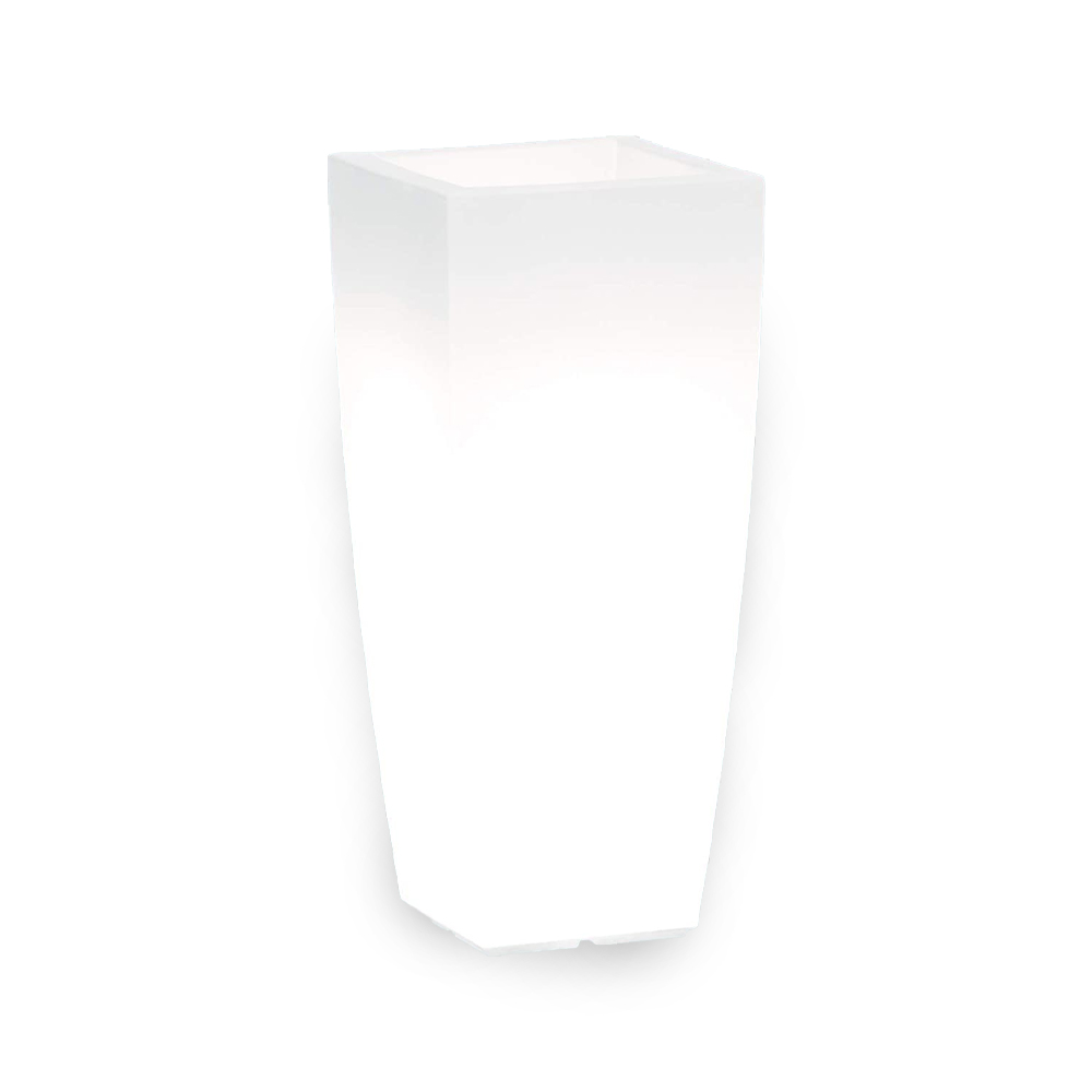 Vaso home quadro stilo light cm. 40x40x90h bianco.