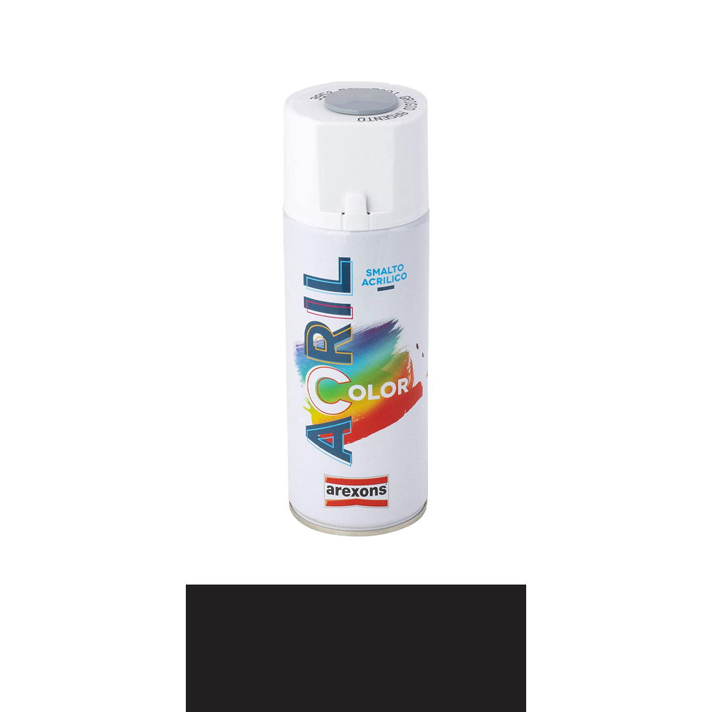 Smalto spray acril color nero opaco arexons 400 ml.